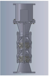 Sezione turbina idraulica MAS